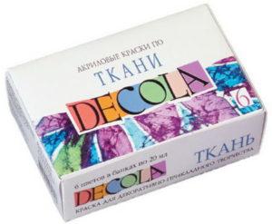 краски Decola для ткани