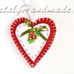 Сердце из ферта новогодние игрушки