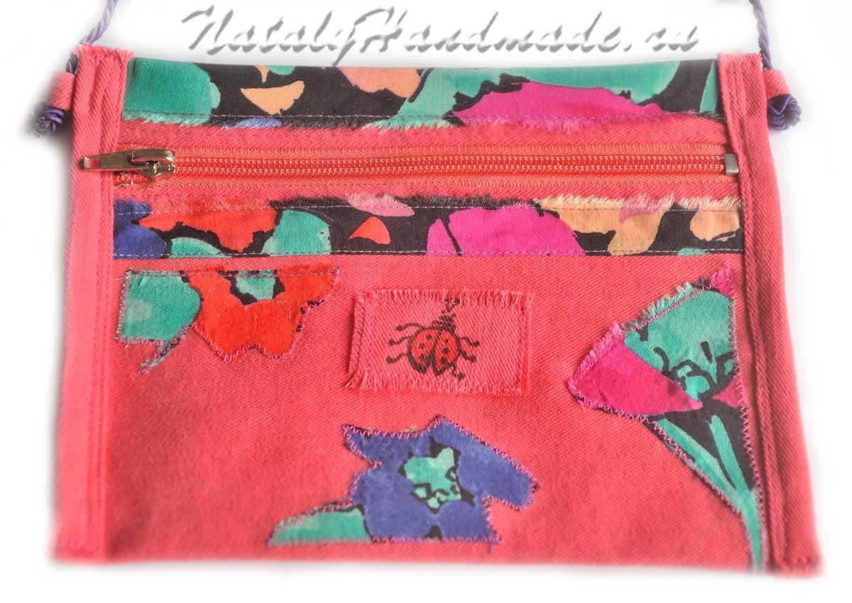 сумка малиновая-для-девочки