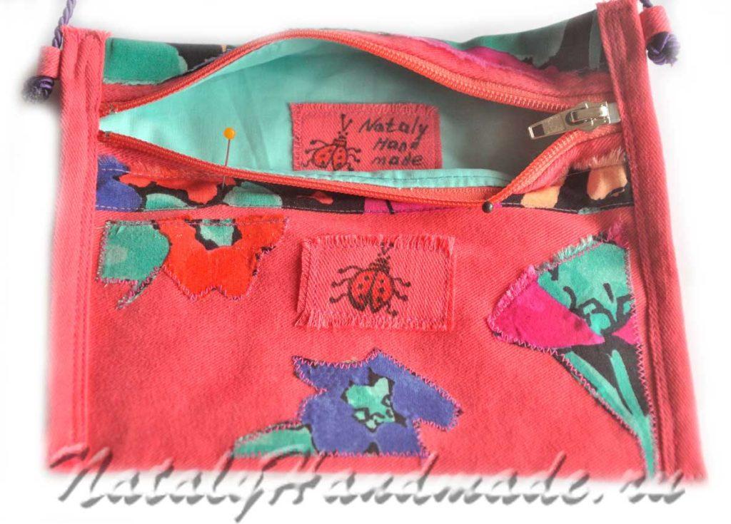 Карман сумка из ткани -для-девочки