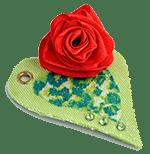 Сердце с розой