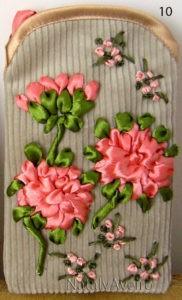 Чехол с малиновыми цветами лентами