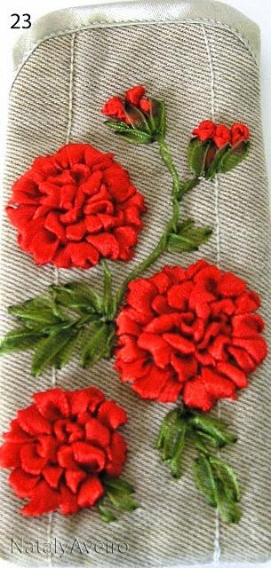 Чехол для мобилки с красными цветами