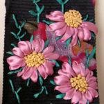 Чехол для сотового с розовыми ромашками