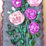 Чехол с сиреневыми розами