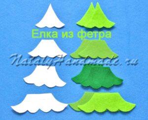 Новогодняя елка из фетра детали