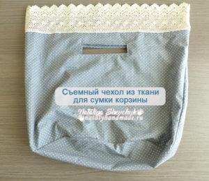 Съемный чехол для сумки корзины лицевая